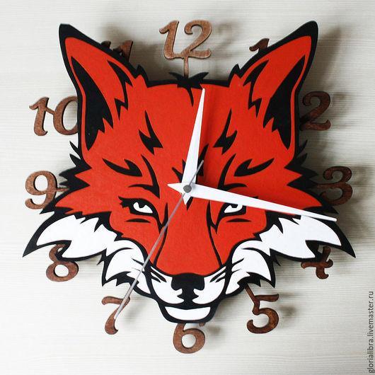 """Часы для дома ручной работы. Ярмарка Мастеров - ручная работа. Купить Часы """"Лис"""". Handmade. Рыжий, часы настенные"""