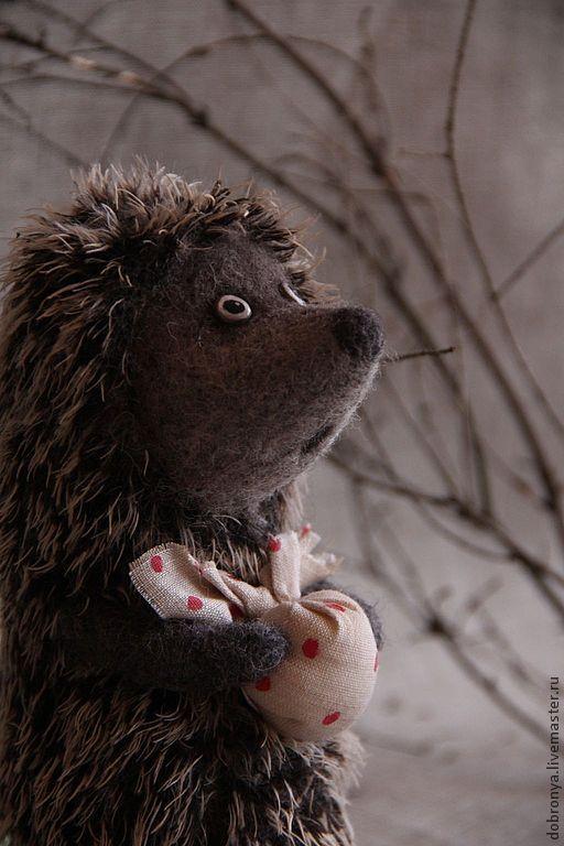 Игрушки животные, ручной работы. Ярмарка Мастеров - ручная работа. Купить Ежик в тумане :-). Handmade. Серый, подарок