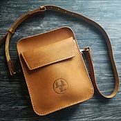 Сумки и аксессуары handmade. Livemaster - original item Bag mens leather DEXTER caramel. Bag tablet. Handmade.