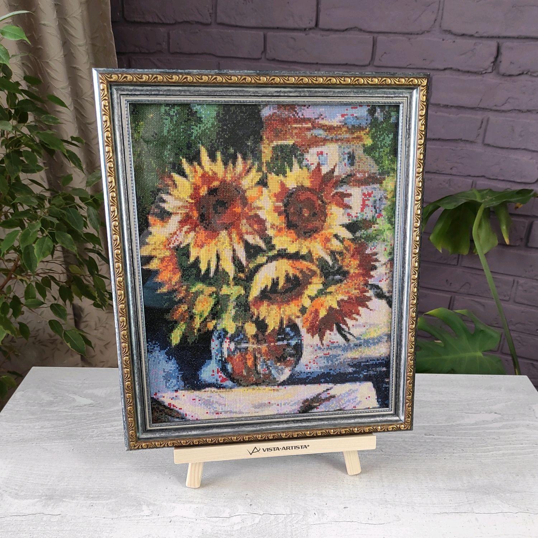 Painting cross stitch Sunflowers still Life, cross stitch, Pictures, Chelyabinsk,  Фото №1