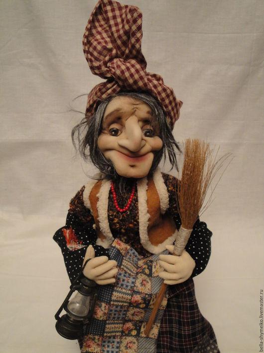 Коллекционные куклы ручной работы. Ярмарка Мастеров - ручная работа. Купить Баба Яга. Handmade. Коричневый, ручная работа