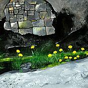 Картины и панно handmade. Livemaster - original item Painting flowers City flowers gouache painting. Handmade.