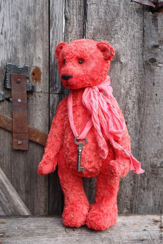 Мишки Тедди ручной работы. Ярмарка Мастеров - ручная работа. Купить Scarlet. Handmade. Ярко-красный, мишка в подарок