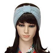 Аксессуары handmade. Livemaster - original item Headband Turban Turban, knitted womens Grey. Handmade.