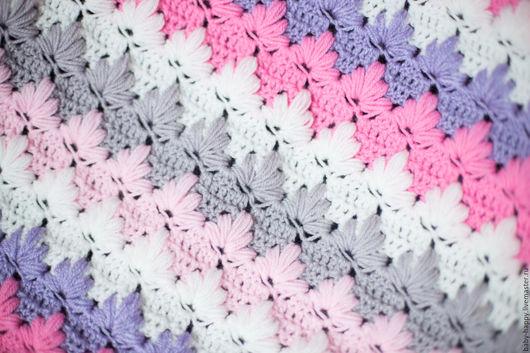 Пледы и одеяла ручной работы. Ярмарка Мастеров - ручная работа. Купить Пледик Теплышка. Handmade. Комбинированный, белый