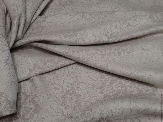 Текстиль, ковры ручной работы. Ярмарка Мастеров - ручная работа. Купить Скатерть льняная жаккардовая Льняные узоры серая. Handmade.