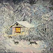 Картины и панно handmade. Livemaster - original item Oil painting on canvas. The forest of fairy tales. Handmade.