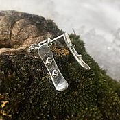 Украшения handmade. Livemaster - original item Copy of Snowboard Xstreme sterling silverpendant. Handmade.
