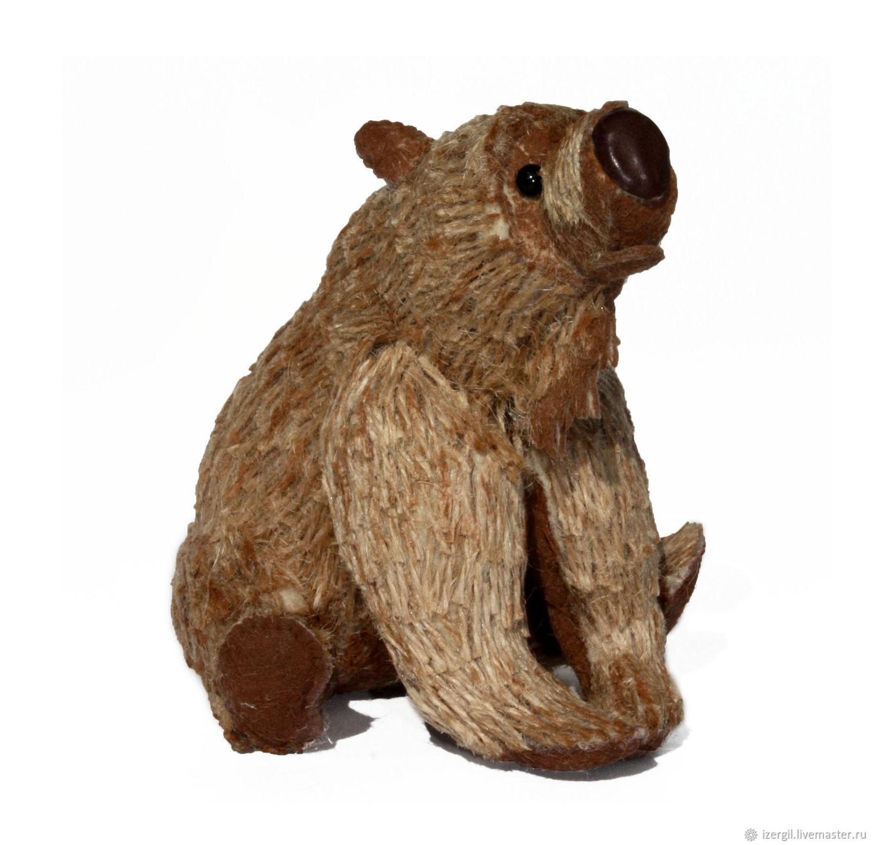 Bear Jute Toy, Stuffed Toys, Moscow,  Фото №1