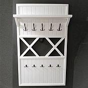 Для дома и интерьера handmade. Livemaster - original item Clothes rack wall with shelf