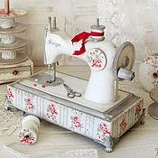 """Для дома и интерьера ручной работы. Ярмарка Мастеров - ручная работа Детская швейная машинка """"Sweet shabby"""". Handmade."""