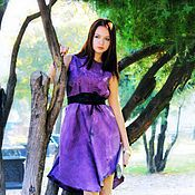 """Одежда ручной работы. Ярмарка Мастеров - ручная работа """"фуксия"""" нуновойлочное платье. Handmade."""