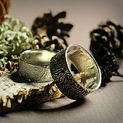 Украшения ручной работы. Ярмарка Мастеров - ручная работа Необычные обручальные кольца из серебра с фактурой. Handmade.