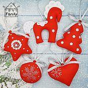 Сувениры и подарки handmade. Livemaster - original item Christmas decorations out of felt. Handmade.