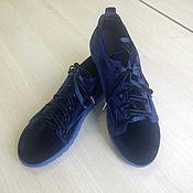 Обувь ручной работы handmade. Livemaster - original item Velvet sneakers 12-413-s64 (ССН). Handmade.