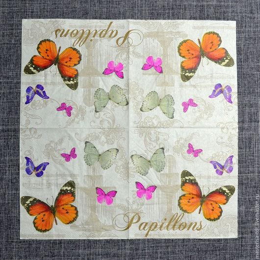 СФ-1019733. Салфетка бумажная `Полет бабочки`