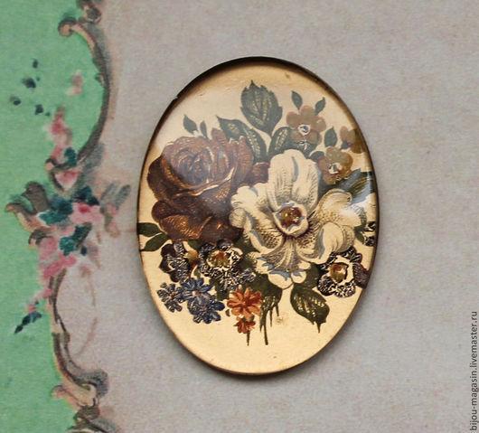 Для украшений ручной работы. Ярмарка Мастеров - ручная работа. Купить Кабошон винтаж 30х40 мм. растительный орнамент. Handmade.