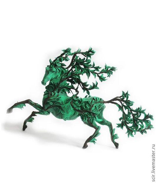 """Сказочные персонажи ручной работы. Ярмарка Мастеров - ручная работа. Купить фигурка """"дух леса"""" (лесной конь; лошадь летнего леса). Handmade."""