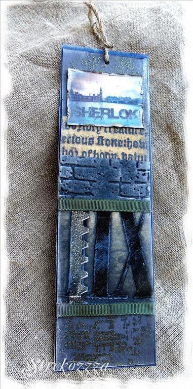 """Закладки для книг ручной работы. Ярмарка Мастеров - ручная работа. Купить Закладка из коллекции  """"Шерлок и Лондон"""" (№ 4). Handmade."""