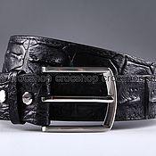 Аксессуары handmade. Livemaster - original item Crocodile leather belt IMA3172B. Handmade.