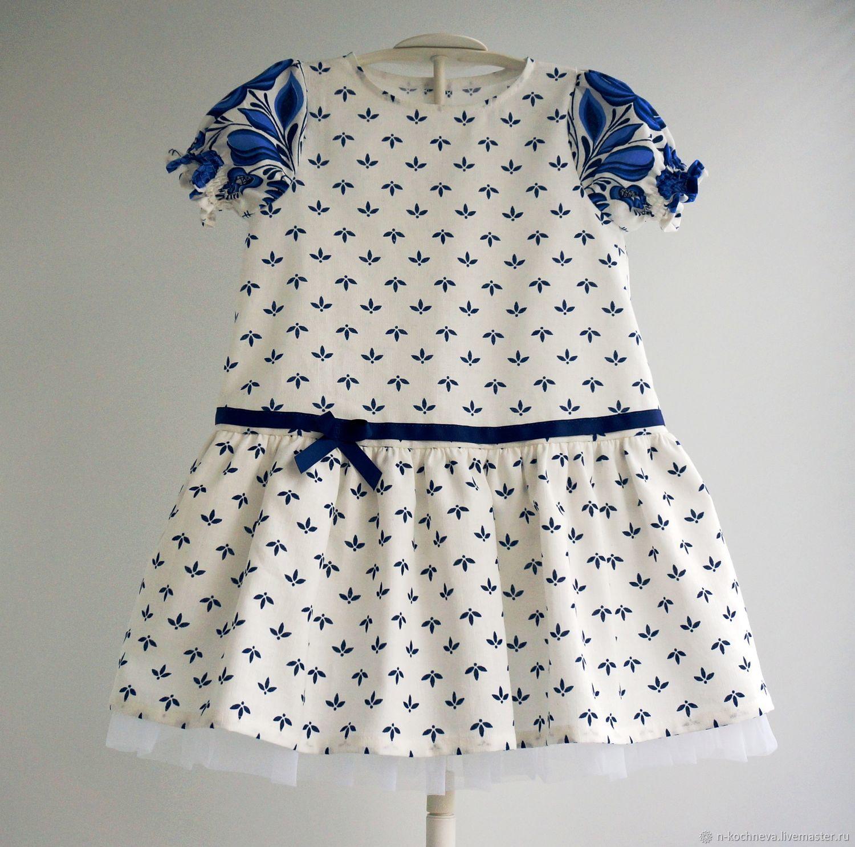 cc4c76da854 Детское платье Гжель 3 – купить в интернет-магазине на Ярмарке ...