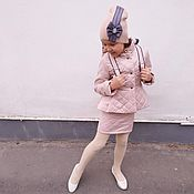Работы для детей, ручной работы. Ярмарка Мастеров - ручная работа Комплект для девочки: куртка, юбка, шапочка и рюкзак. Handmade.