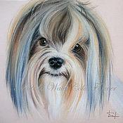 Картины и панно ручной работы. Ярмарка Мастеров - ручная работа Портрет собаки. Йорк. Handmade.