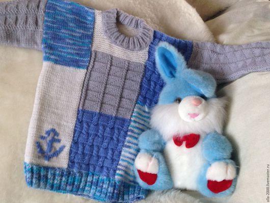 Одежда для мальчиков, ручной работы. Ярмарка Мастеров - ручная работа. Купить Джемпер для мальчика ручной вязки. Handmade. Комбинированный
