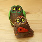 Куклы и игрушки ручной работы. Ярмарка Мастеров - ручная работа Совята - свистульки. Handmade.