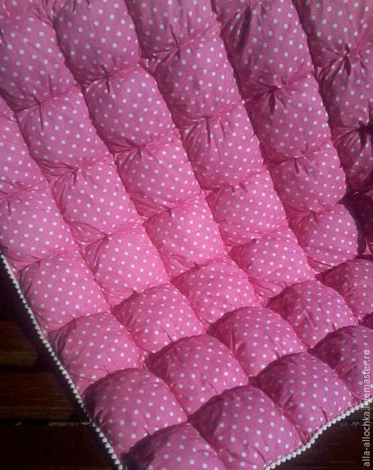 Пледы и одеяла ручной работы. Ярмарка Мастеров - ручная работа. Купить Одеяло бомбон. Handmade. Розовый, детский плед, холлофайбер