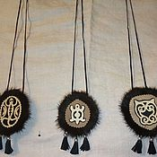 Медальон ручной работы. Ярмарка Мастеров - ручная работа Медальон: оберег. Handmade.