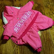 Для домашних животных, handmade. Livemaster - original item 25-27cm at the back of the Indoor winter jacket for girls. Handmade.