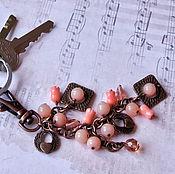 Аксессуары handmade. Livemaster - original item Coral key chain with pendants. Handmade.