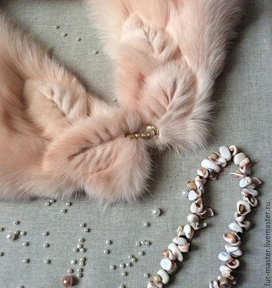 Шали, палантины ручной работы. Ярмарка Мастеров - ручная работа. Купить Горжетка из розового песца «Нежность». Handmade. Розовый