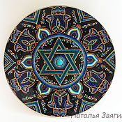Тарелка интерьерная, декоративная Маген Давид