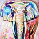 """Животные ручной работы. Ярмарка Мастеров - ручная работа. Купить Картина маслом """"Слон"""". Handmade. Слон, Розовый слон"""