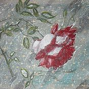 """Картины и панно ручной работы. Ярмарка Мастеров - ручная работа """"Роза для Герды"""" картина на органзе. Handmade."""
