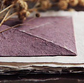 """Канцелярские товары ручной работы. Ярмарка Мастеров - ручная работа """"Лесная ежевика"""" - конверты и бумага ручной работы. Handmade."""