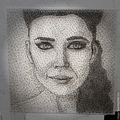 Картины и панно ручной работы. Ярмарка Мастеров - ручная работа портрет певицы Елки в стиле стринг арт. Handmade.