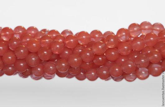Для украшений ручной работы. Ярмарка Мастеров - ручная работа. Купить Вишневый кварц Cherry Quartz Rounds 10 мм. Handmade.