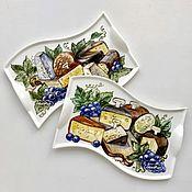 Для дома и интерьера ручной работы. Ярмарка Мастеров - ручная работа Роспись фарфора Сырная доска фарфоровая. Handmade.
