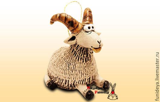 Колокольчики ручной работы. Ярмарка Мастеров - ручная работа. Купить Коза колокольчик. Коза из глины.. Handmade. коза символ года
