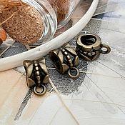 Материалы для творчества handmade. Livemaster - original item Bail for pendants, pendants in BRONZE (art. 2210). Handmade.