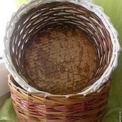 Для дома и интерьера ручной работы. Ярмарка Мастеров - ручная работа Корзиночка плетенная из газетных трубочек. Handmade.