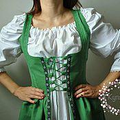 Костюмы для кослпея ручной работы. Ярмарка Мастеров - ручная работа Платье в стиле Medieval зеленое. Handmade.