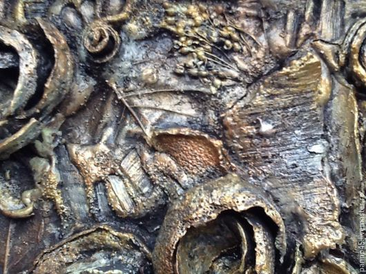 """Абстракция ручной работы. Ярмарка Мастеров - ручная работа. Купить Панно терра- """"абстракция из коры"""". Handmade. Панно, природный материал"""