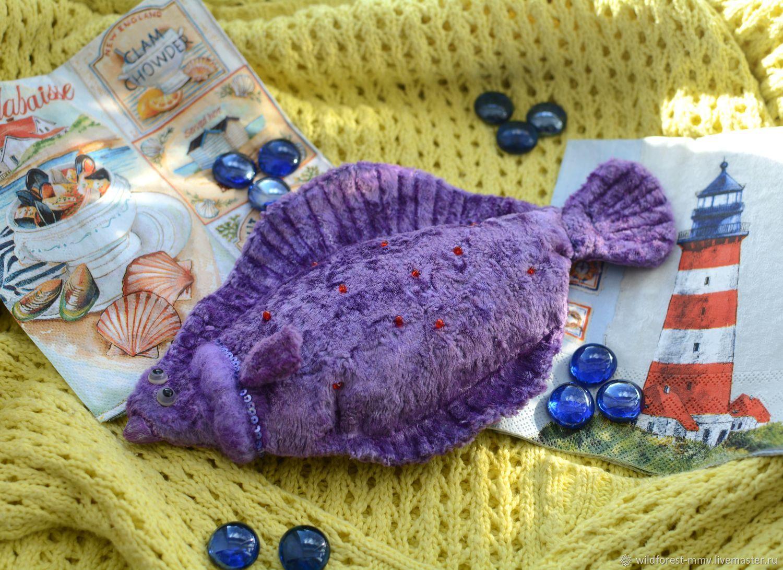 Interior fish Flounder purple, Interior doll, Voronezh,  Фото №1