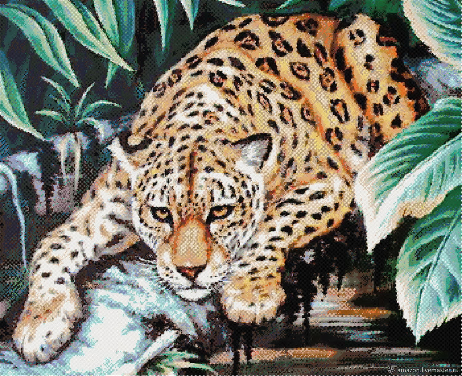 Set for embroidery with beads ' Leopard on the tree ', Embroidery kits, Ufa,  Фото №1