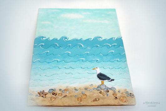 Пейзаж ручной работы. Ярмарка Мастеров - ручная работа. Купить Лето. Море. Шум прибоя  (объемная картина). Handmade.