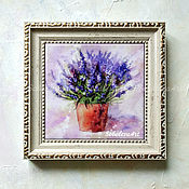 handmade. Livemaster - original item Picture Lavender Bouquet of Lavender Picture flowers Small picture. Handmade.